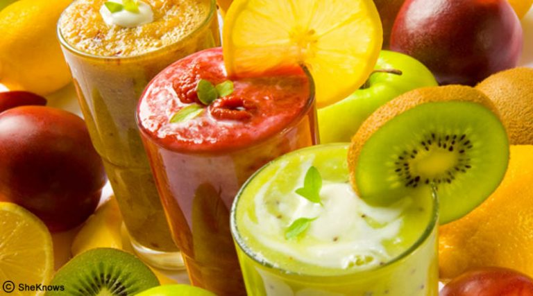 Fresh fruits smoothie