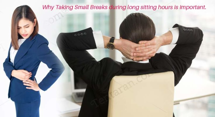 why taking small breaks during long sitting hours is important