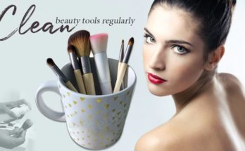 clean beauty tools regularly