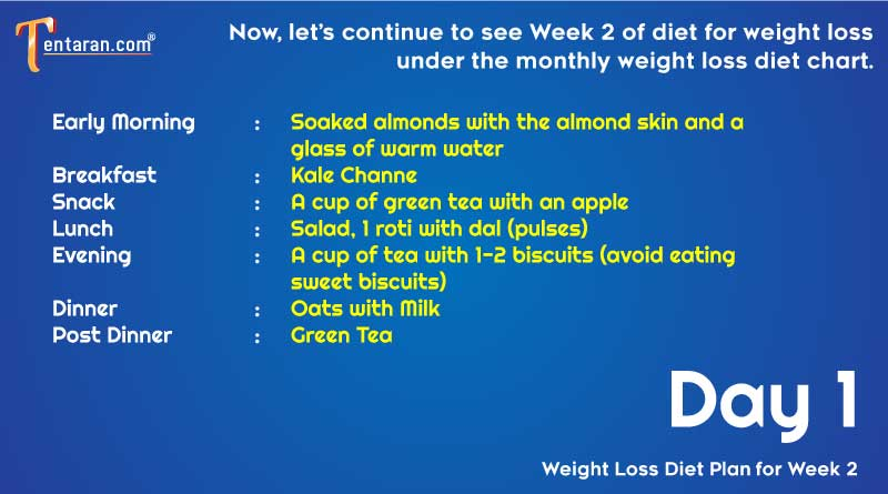weight loss diet chart day1