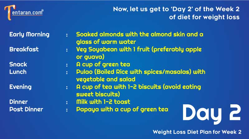 weight loss diet chart day2