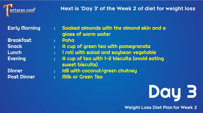 weight loss diet chart day3