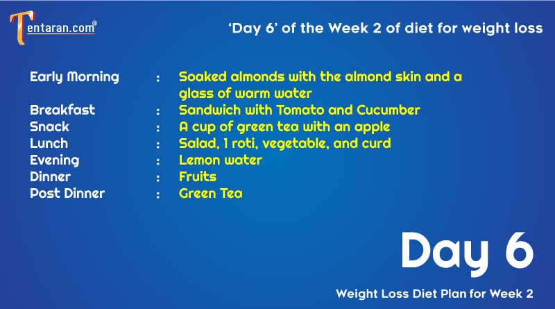 weight loss diet chart day6