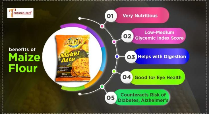 benefits of maize flour - makki ka atta