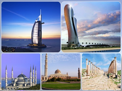Most popular cities of Middle East