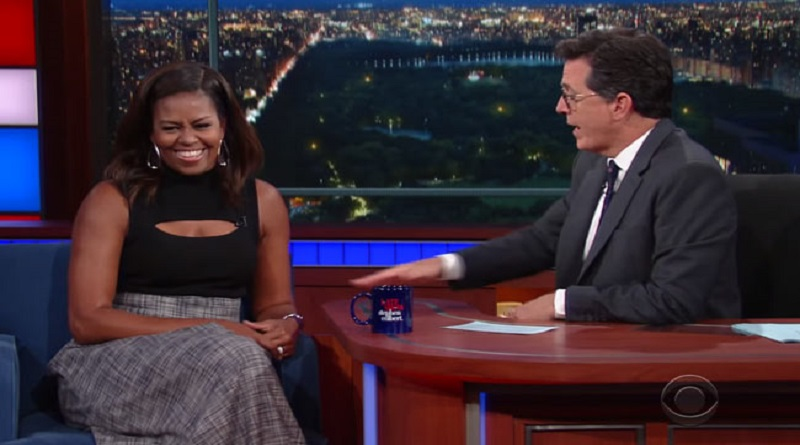 michelle obama imitates husband