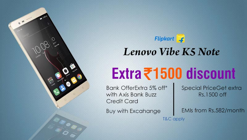 1500 extra off on Lenovo Vibe phone