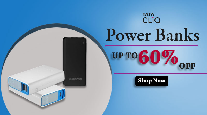 60% off on Power Banks