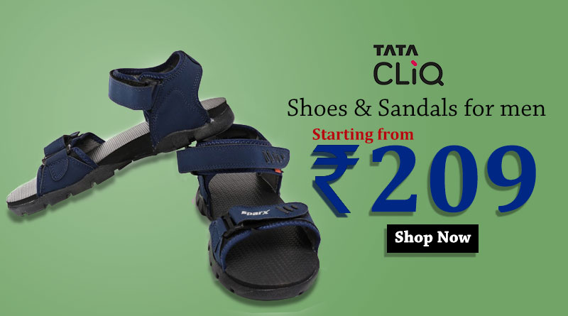 Shoes & Sandals for men starting from Rs 206