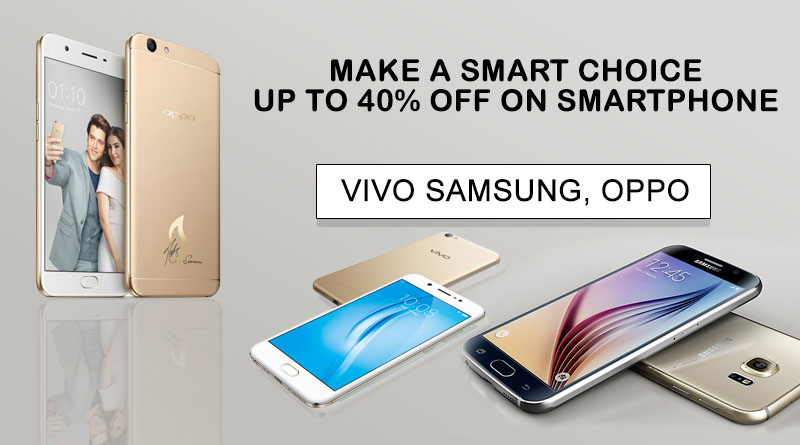 UP TO 40% OFF ON SMARTPHONE