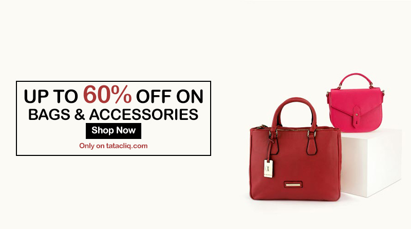 UP TO 60% OFF on Bags on TATA Cliq