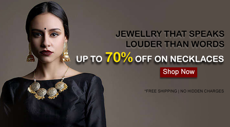 UP TO 70% OFF ON NECKLACES
