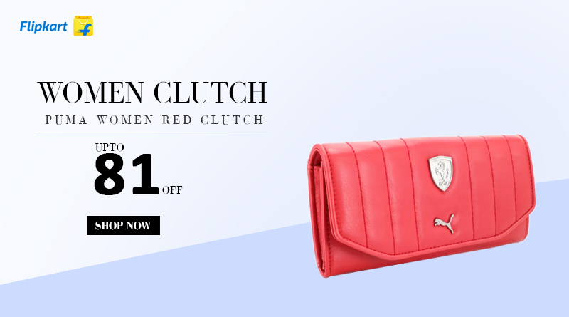 Puma Women Red Clutch