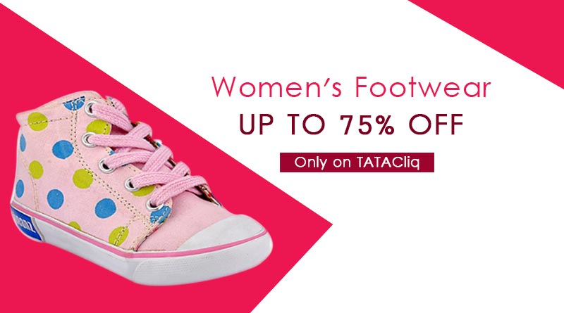 Up to 75% off on Women's footwear