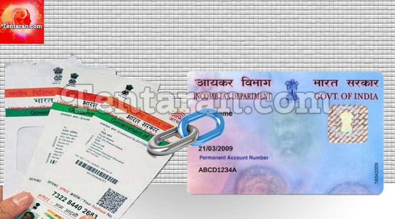 Link aadhar card to pancard online or sms