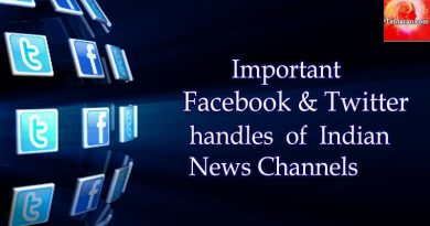 Important Facebook and Twitter handles of Indian News Channels