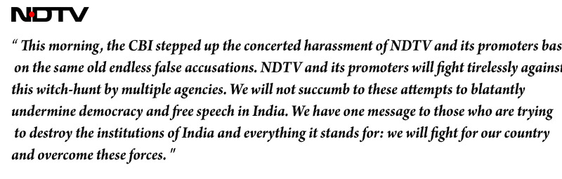 ndtv Issue