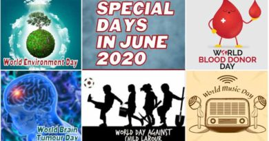 What is the day today – Some Special Days in June 2020