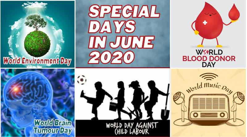 special days in june 2020