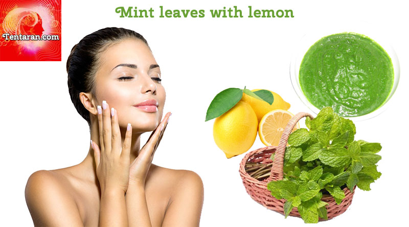 remove dark circles Mint leaves with lemon