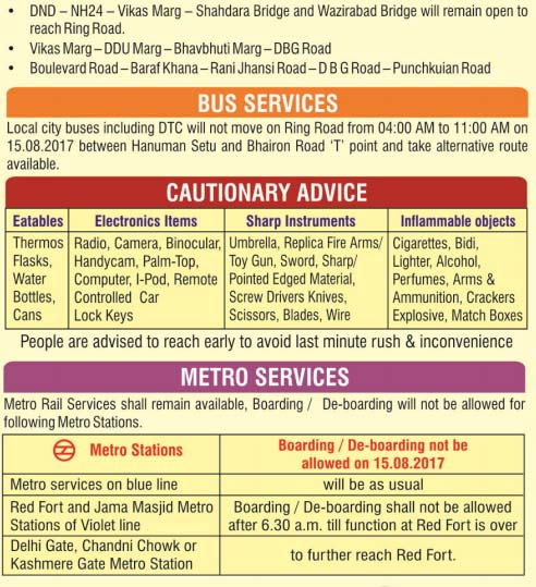 Traffic Restrictions Around Red Fort 2
