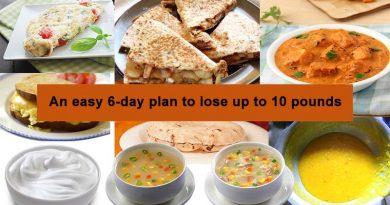 easy six days plan to lose up to five kgs