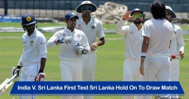 India V. Sri Lanka First Test Sri Lanka Hold On To Draw Match