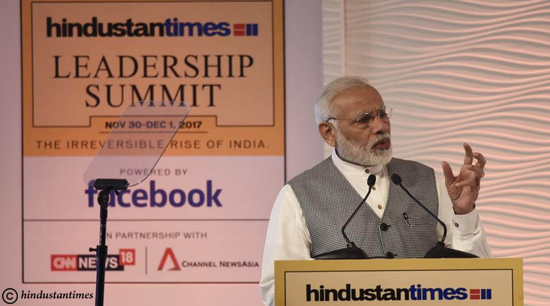Narendra Modi says ready to pay political price for fighting corruption, irreversible changes to benefit poor HTLS 2017