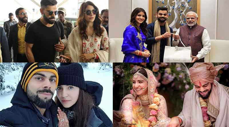 Virat and Anushka adorable post wedding pictures