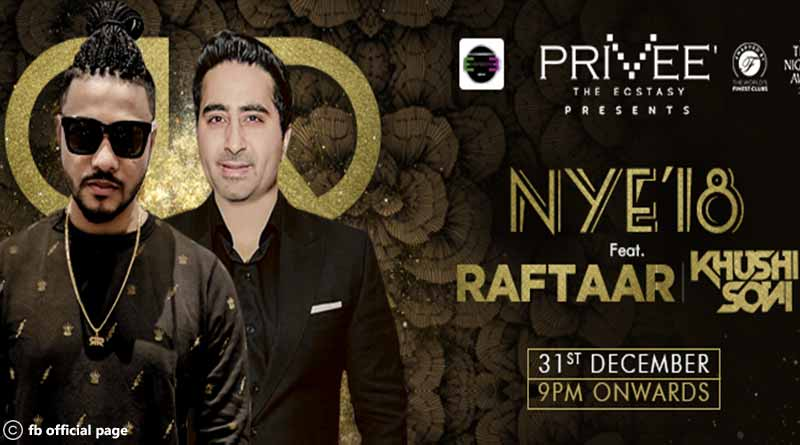 New Year Party with Singer Raftaar at the Privee, Shangri-La Eros, CP