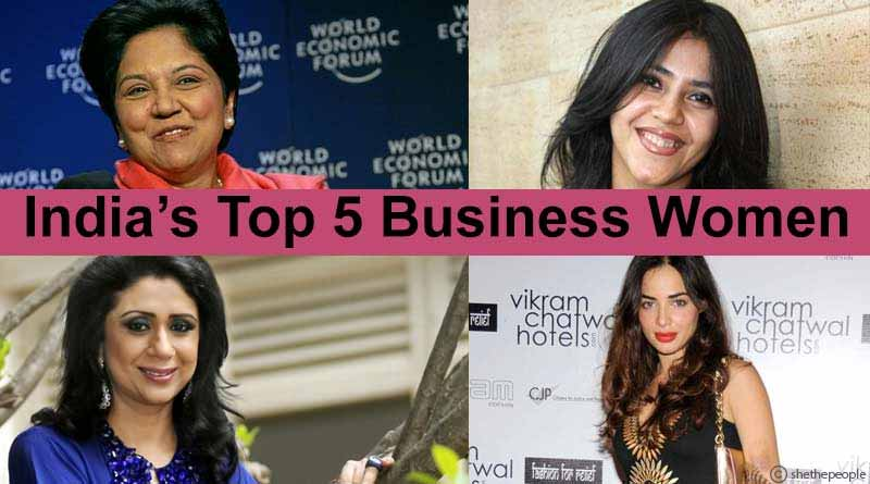 top five business women india