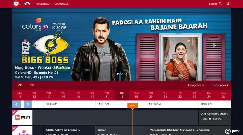 Now watch most of the paid TV channels on Jio TV for free