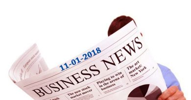 India business news headlines 11th January 2018