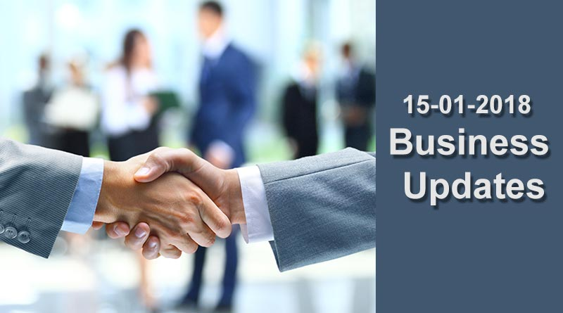 15-01-2018-India business news headlines