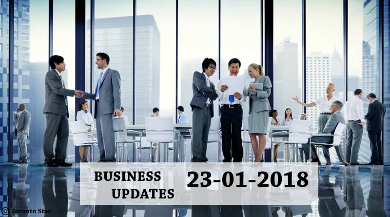 India business news headlines 23rdJ anuary 2018