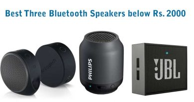 Best Three Bluetooth Speakers below Rs 2000