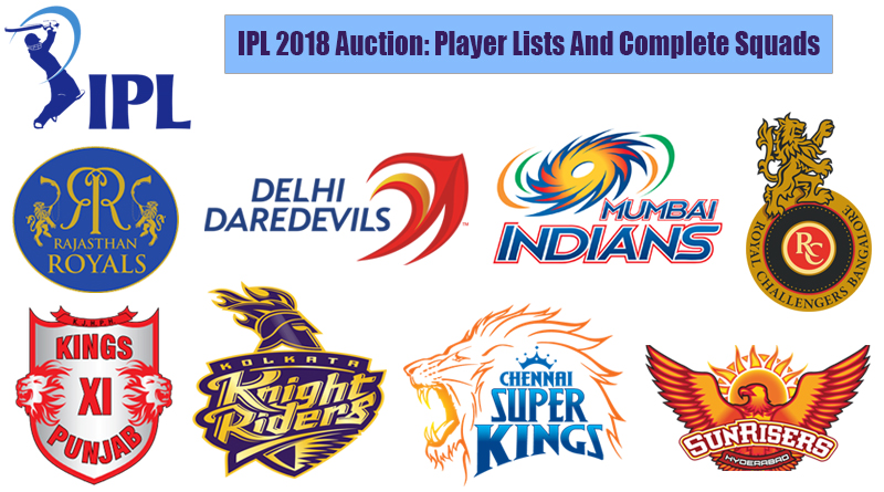 IPL 2018 Auction Player Lists And Complete Squads