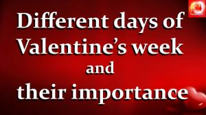 Different days of Valentine's week and their importance