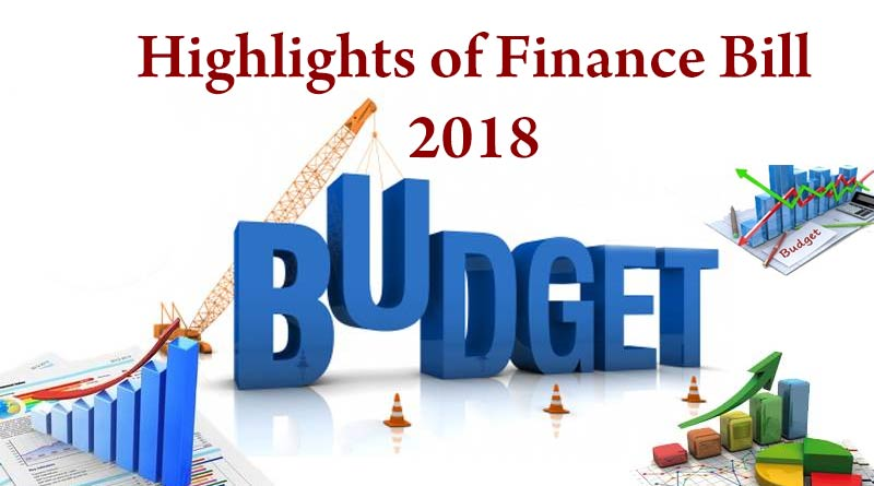 Highlights of Finance Bill 2018