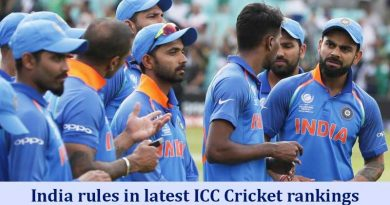 India rules in latest ICC Cricket rankings