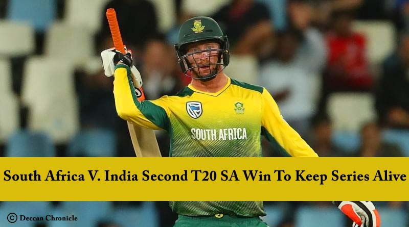 South Africa VS India Second T20 Result SA Win To Keep Series Alive