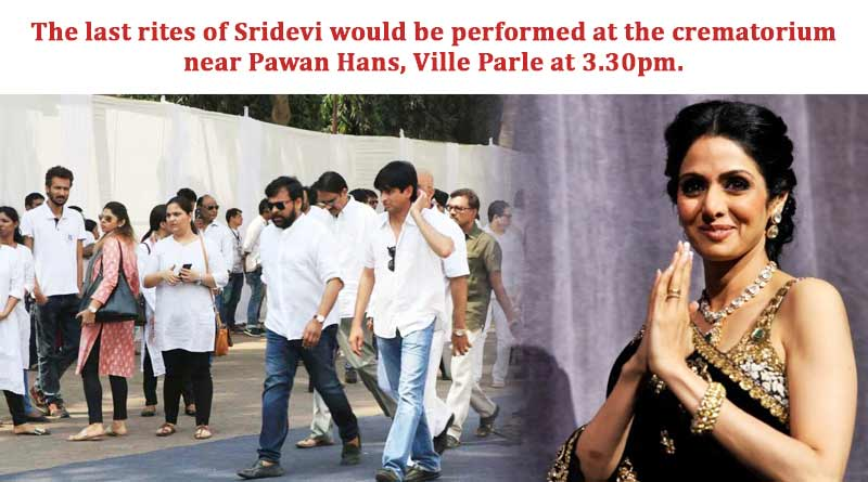 The last rites of Sridevi