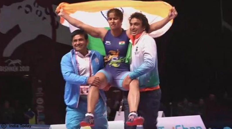 Asian Wrestling Championship 2018 Navjot Wins Gold, Sakshi Bronze