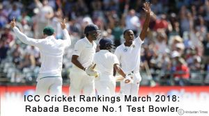 ICC Cricket Rankings March 2018: Rabada Become No.1 Test Bowler