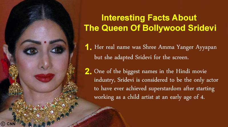 Queen Of Bollywood Sridevi