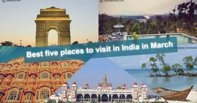 Five best places to visit in India in March