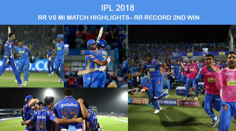 RR Vs MI Match Highlights– RR Record Second Win
