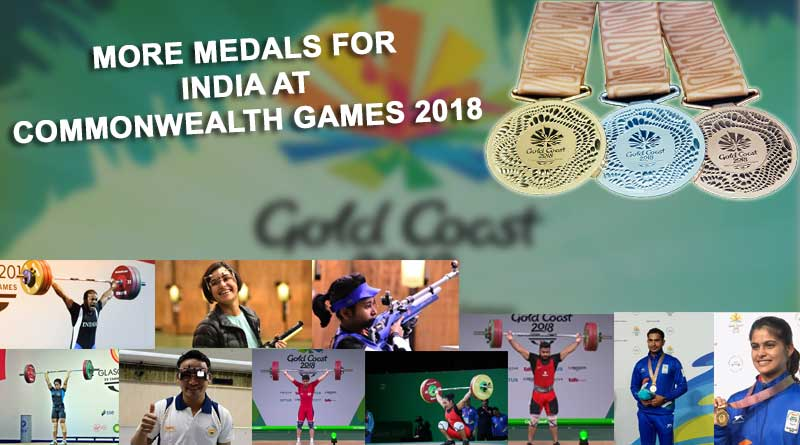 medals for India at Commonwealth Games 2018