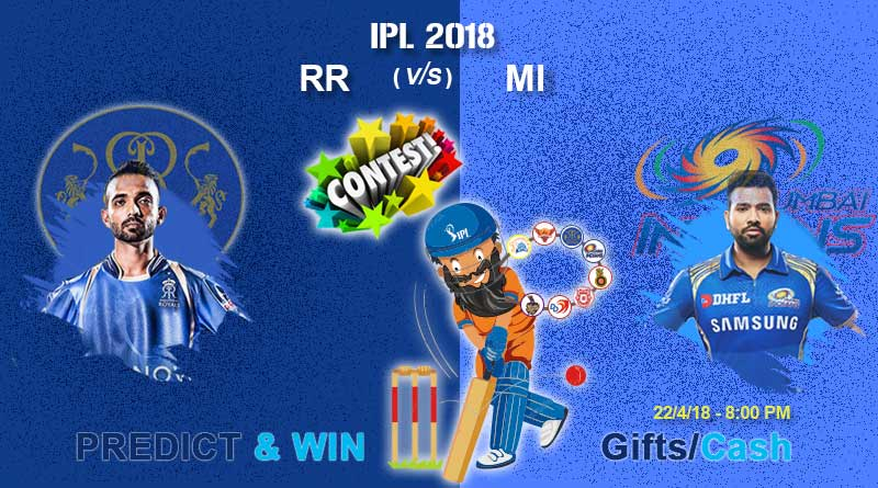 RR vs MI IPL 2018 Match 21: Rajasthan Royals vs Mumbai Indians