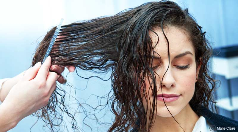 avoid brush in wet hair